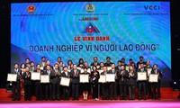 Lễ vinh danh 74 doanh nghiệp vì người lao động