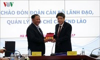 Lãnh đạo Đài TNVN tiếp Đoàn cán bộ Lãnh đạo, Quản lý báo chí Lào