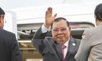 Tổng Bí thư, Chủ tịch nước Lào bắt đầu thăm hữu nghị chính thức Việt Nam