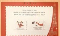Phát hành bộ tem kỷ niệm quan hệ giữa Việt Nam và Pháp