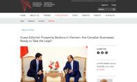 Xu thế tăng cường quan hệ Canada-Việt Nam mở ra cơ hội hợp tác lớn