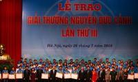 Giải thưởng Nguyễn Đức Cảnh lần thứ III: Phần thưởng cao quý dành cho công nhân, lao động xuất sắc