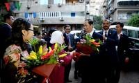 Chủ tịch nước gặp gỡ cán bộ nhân viên Đại sứ quán Việt Nam tại Ai Cập