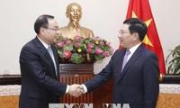 Phó Thủ tướng, Bộ trưởng ngoại giao Phạm Bình Minh tiếp thị trưởng Trùng Khánh, Trung Quốc