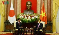 Chủ tịch nước Trần Đại Quang tiếp Bộ trưởng Ngoại giao Nhật Bản Taro Cono