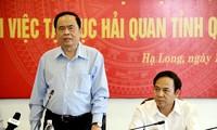 Chủ tịch Ủy ban Trung ương Mặt trận Tổ quốc Việt Nam Trần Thanh Mẫn làm việc với Cục Thuế Quảng Ninh