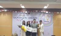 """Sinh viên Việt Nam giành giải Nhất cuộc thi """"Khởi nghiệp Pháp ngữ 2018"""