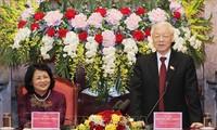 Tổng Bí thư, Chủ tịch nước Nguyễn Phú Trọng thăm và làm việc với Văn phòng Chủ tịch nước