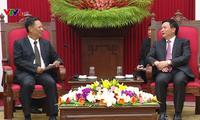 Học viện Chính trị quốc gia Hồ Chí Minh tăng cường hợp tác với Hội đồng KHXH Quốc gia Lào