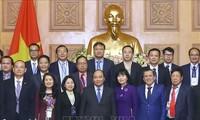 Thủ tướng Nguyễn Xuân Phúc tiếp các doanh nghiệp đạt Thương hiệu quốc gia