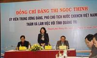 Phó Chủ tịch nước Đặng Thị Ngọc Thịnh làm việc với tỉnh Quảng Trị