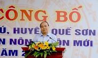 Thủ tướng dự Lễ công bố xã Quế Phú, Quảng Nam đạt chuẩn nông thôn mới