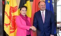 Chủ tịch Quốc hội Nguyễn Thị Kim Ngân tiếp Chủ tịch vùng Wallonie, Bỉ