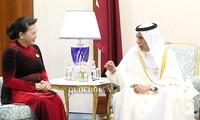 Chủ tịch Quốc hội Nguyễn Thị Kim Ngân hội kiến Chủ tịch Hội đồng Shura (Nghị viện) Qatar