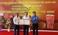 Tỉnh Quảng Ninh công bố quyết định công nhận bảo vật Quốc gia