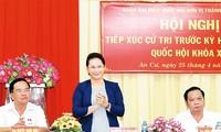 Chủ tịch Quốc hội Nguyễn Thị Kim Ngân tiếp xúc cử tri tại huyện Phong Điền, Thành phố Cần Thơ