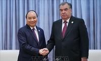 Thủ tướng Nguyễn Xuân Phúc gặp gỡ Tổng thống Tjikistan và tiếp một số doanh nghiệp nước ngoài