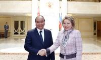 Thủ tướng Chính phủ Nguyễn Xuân Phúc hội kiến Chủ tịch Hội đồng Liên bang Nga Valentina Ivanovna Matviyenko