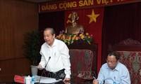 Phó Thủ tướng Thường trực Chính phủ Trương Hòa Bình gặp mặt lãnh đạo tỉnh Bắc Kạn