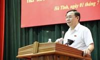 Phó Thủ tướng Chính phủ Vương Đình Huệ tiếp xúc cử tri tỉnh Hà Tĩnh
