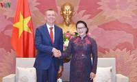 Chủ tịch Quốc hội Nguyễn Thị Kim Ngân tiếp Bộ trưởng Ngoại giao Latvia Edgar Rinkevics