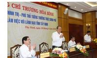 Phó Thủ tướng Trương Hòa Bình thăm, làm việc với lãnh đạo tỉnh Tây Ninh