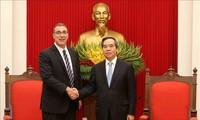 Trưởng ban Kinh tế Trung ương tiếp lãnh đạo IMF và ILO