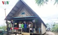Посещение общины Янгмао после тайфуна Дамри