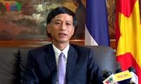 越南驻泰大使馆保释被捕的38名越南渔民