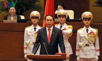 越南国家主席陈大光会见优秀企业家代表团