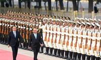 中国媒体纷纷报道阮春福访华行程