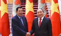 越柬发表联合声明