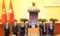 阮氏金银出席国会办公厅2017年任务部署会议