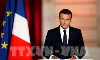 法国新任总统马克龙承诺建设强大的法国和让法国人重拾自信