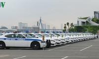 越南公安部交警局举行出征仪式决心确保2017年APEC领导人会议周期间交通安全