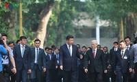 越中领导人互致贺电 庆祝两国建交68周年