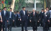 阮富仲与中共中央总书记、国家主席习近平互致新年贺信