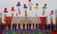 越南青年举行出征仪式响应2018年青年月