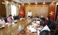 陈清敏与越南劝学协会和越南天主教团结委员会举行工作座谈