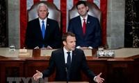 法国总统马克龙在美国国会发表演讲