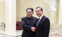 朝中社:金正恩与王毅讨论多个问题