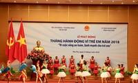 越南2018年儿童行动月启动