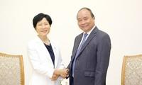 阮春福会见全球环境基金首席执行官兼主席石井菜穗子