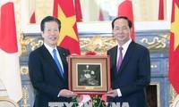 越南国家主席陈大光会见日本公明党党魁山口那津男