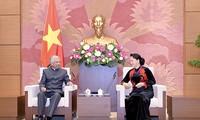 阮氏金银会见联合国常驻越南协调员马尔霍特拉及儿童基金会驻越代表贾利勒