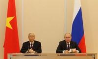 俄罗斯智库高度评价越共中央总书记阮富仲此次访俄