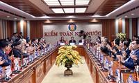出席亚审组织第14届大会的各国代表团团长参观越南国家审计署