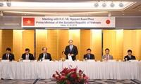 阮春福与日本企业代表举行座谈会