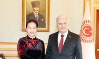 阮氏金银与土耳其大国民议会议长耶尔德勒姆举行会谈
