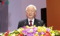 阮富仲出席越南农民协会第7次全国代表大会开幕式